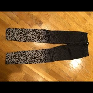 Hudson girls jeans animal print size 10